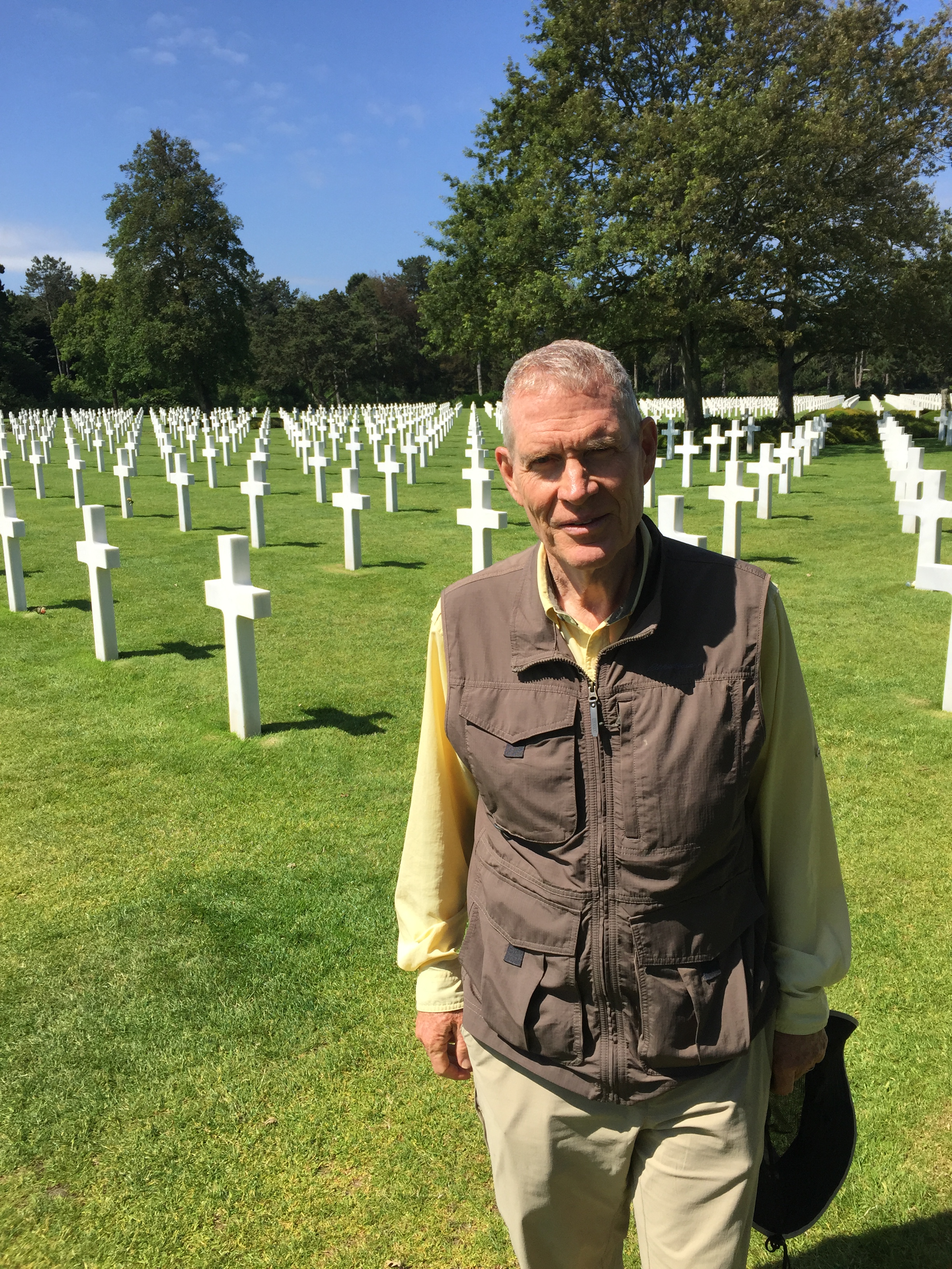 Larry Lunt at the Normandy American Cemetery and Memorial