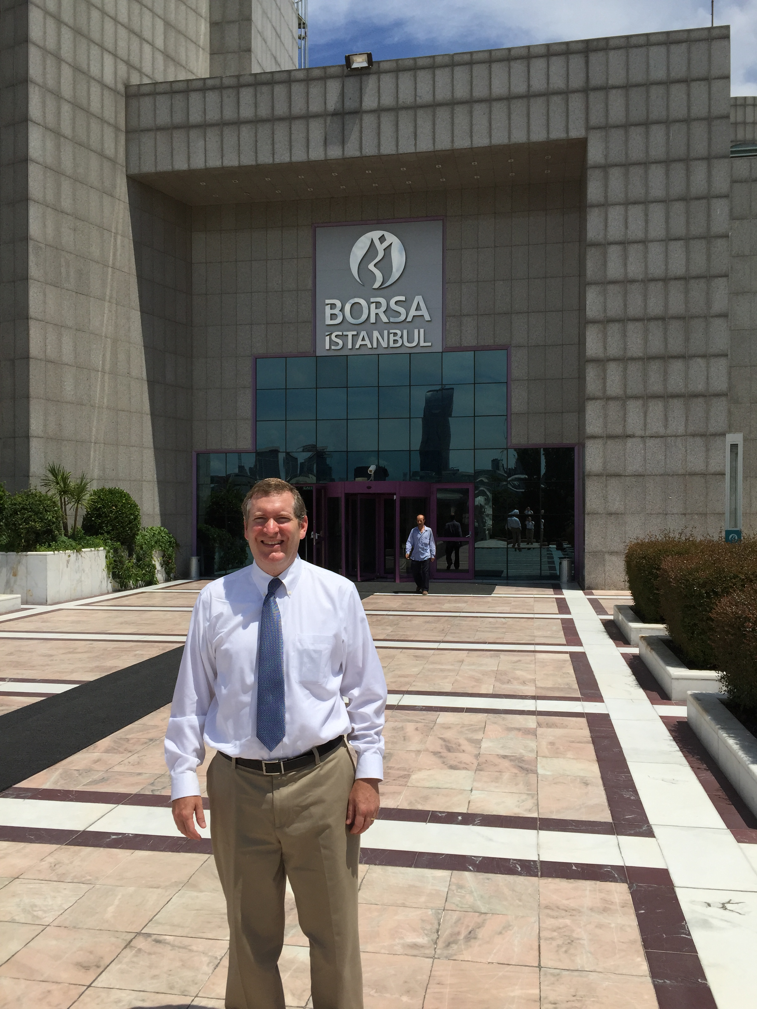 John Lunt in front of Borsa Istanbul