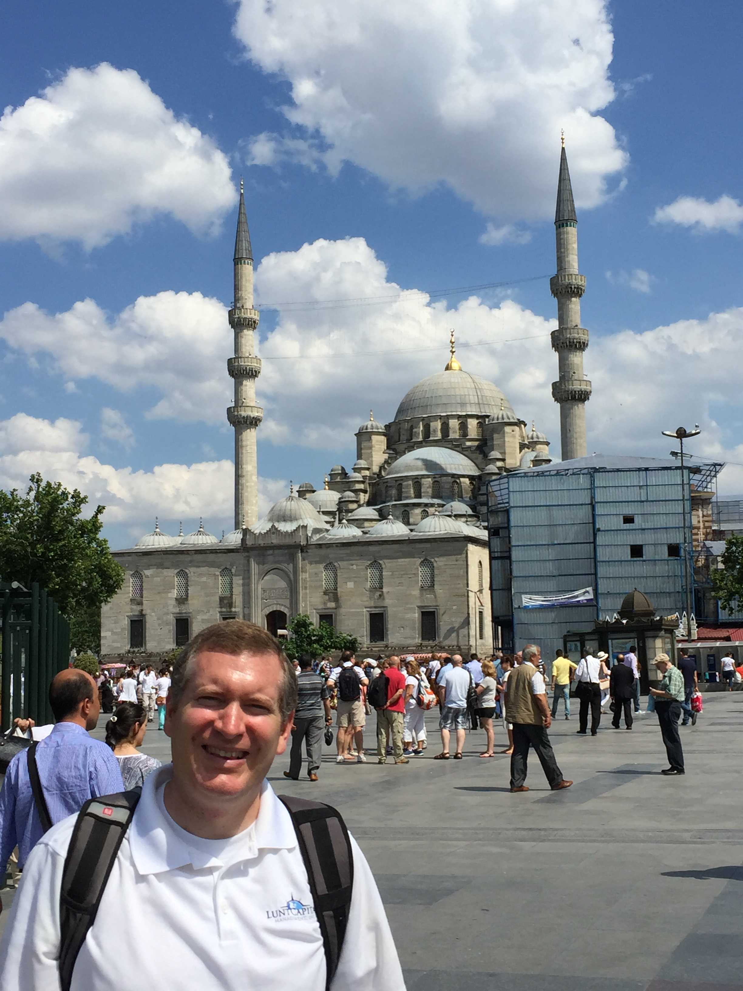 John Lunt at the Blue Mosque