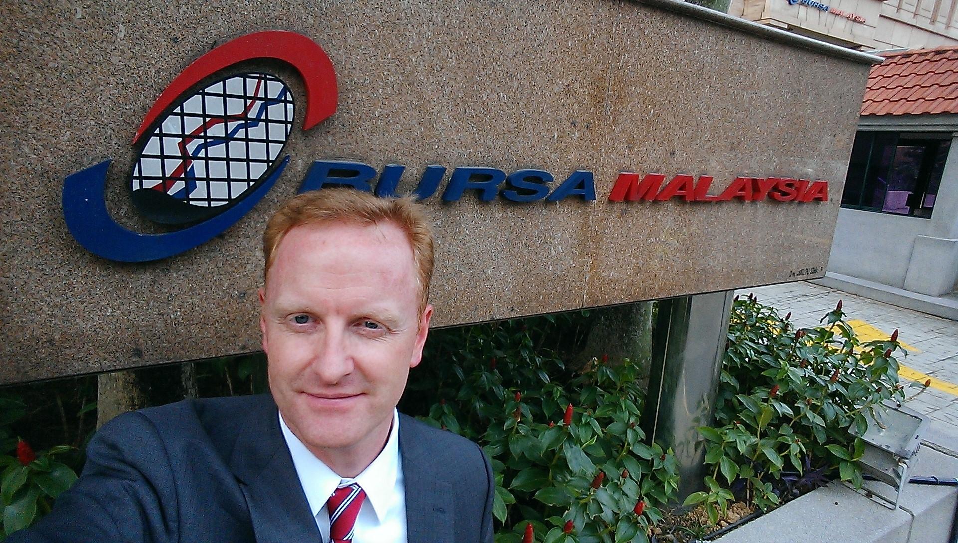 Ryan Hessenthaler at Bursa Malaysia