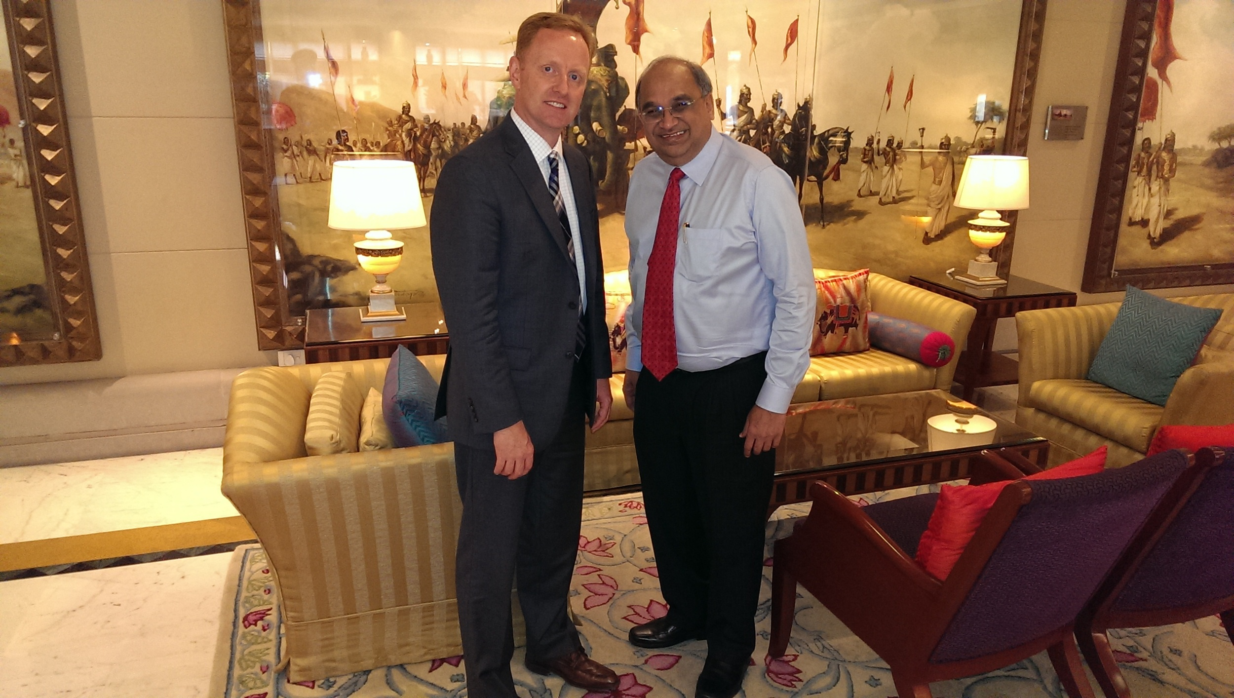 Ryan Hessenthaler with Bharat Shah, Executive Director of ASK Investment Managers