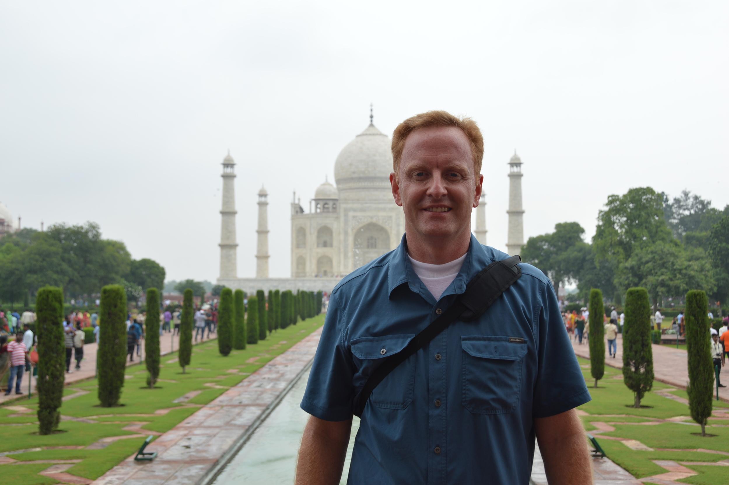Ryan Hessenthaler at the Taj Mahal