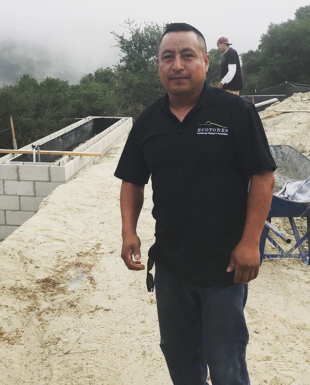Meet Francisco, he has worked here for almost 15 years starting as a laborer. We are very proud of him as he has worked his way up to Foreman. His smile, sense of humor and respect for his clients properties make him a valuable member of our construction team and a pleasure to work with on a daily basis.  #20yearsanniversary #slolocal #landscapedesign #centralcoast