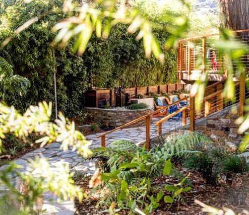 If ever a project elicited the term 'Shangri-La', this is it.. A backyard built for fun in San Luis Obispo.  #californialandscapedesign #20yearanniversary #slocal