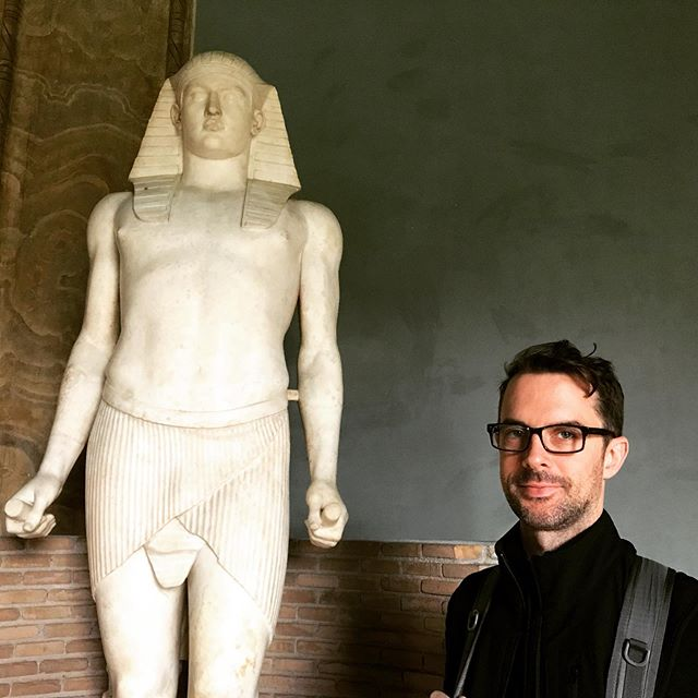 Just a museum nerd checking out some Egyptian antiquities.