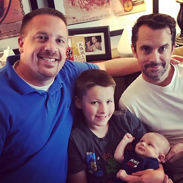 The two brothers and their sons. #familytime #brothers #nerddad