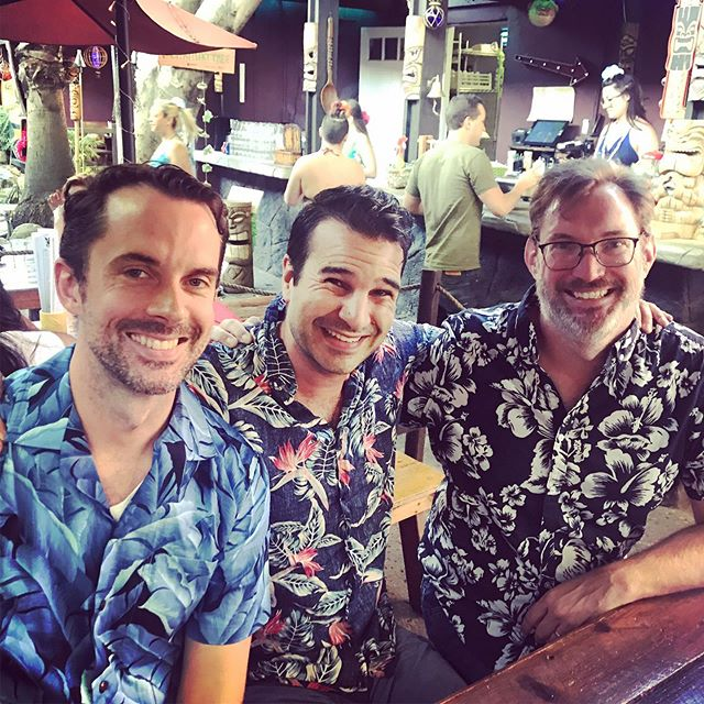 "Sometimes you talk your friends into wearing obnoxious Hawaiian shirts and going to a tiki bar.... and sometimes they say, ""Sure Jarred, whatever makes u happy."" #tikibar #tiki #tikiparty"
