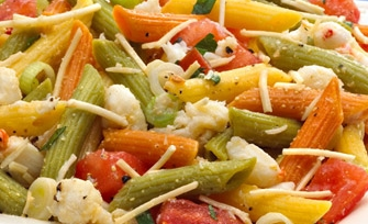 Multicolored Penne With Mixed Vegetables