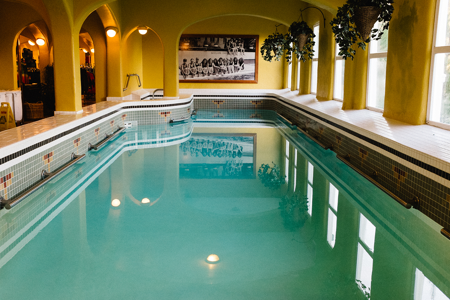 The heated salt water pool is part of the wonderfully preserved facilities at Rosario Resort