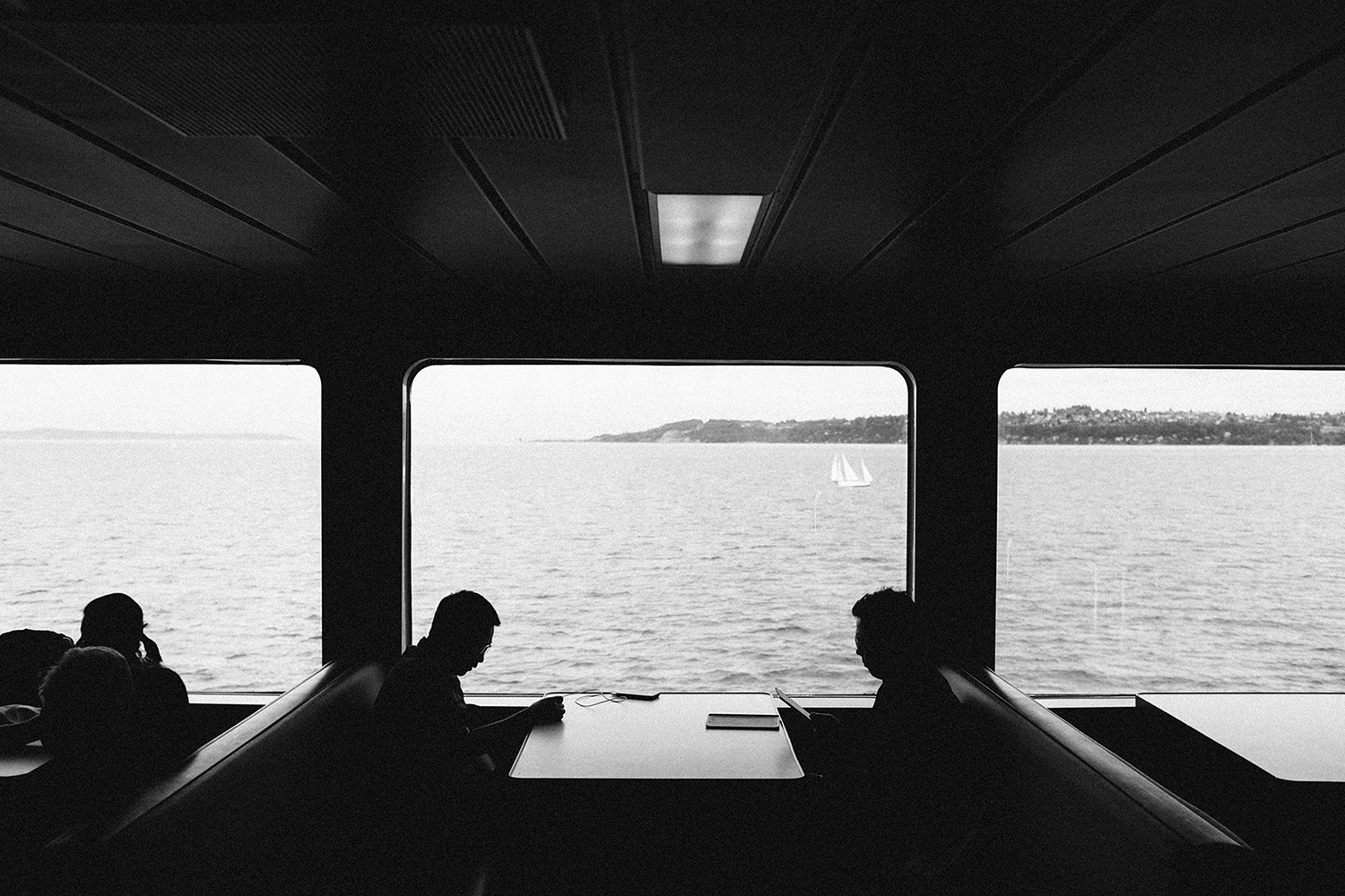 Reading on the ferry