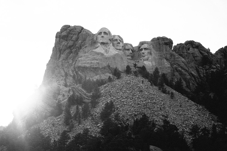 Sunset at Mount Rushmore near Rapid City, South Dakota