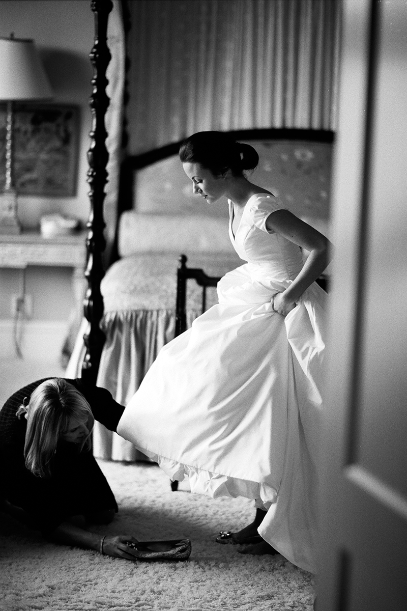 Bride getting ready at her home in Redmond, WA
