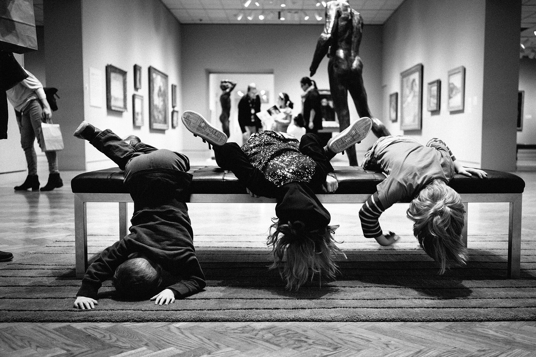 Exploring Minneapolis art museums with our son Oliver and friends