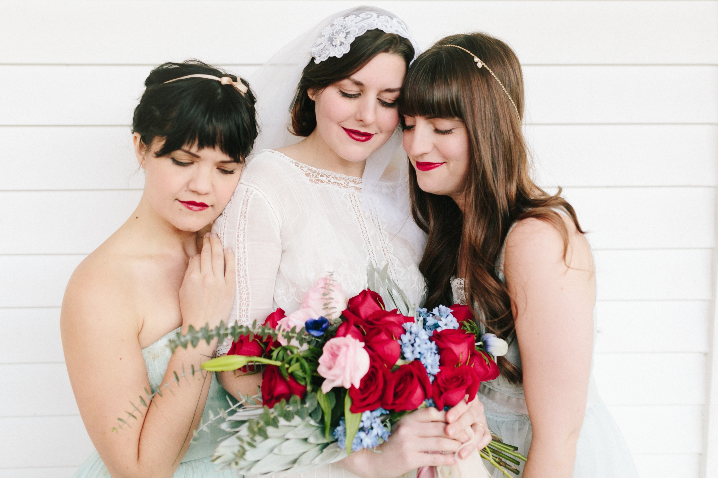Valentines Bride and Her Bridesmaids  Styled Session  Hurtienne Photography  Portland Oregon Wedding Photographers (40)