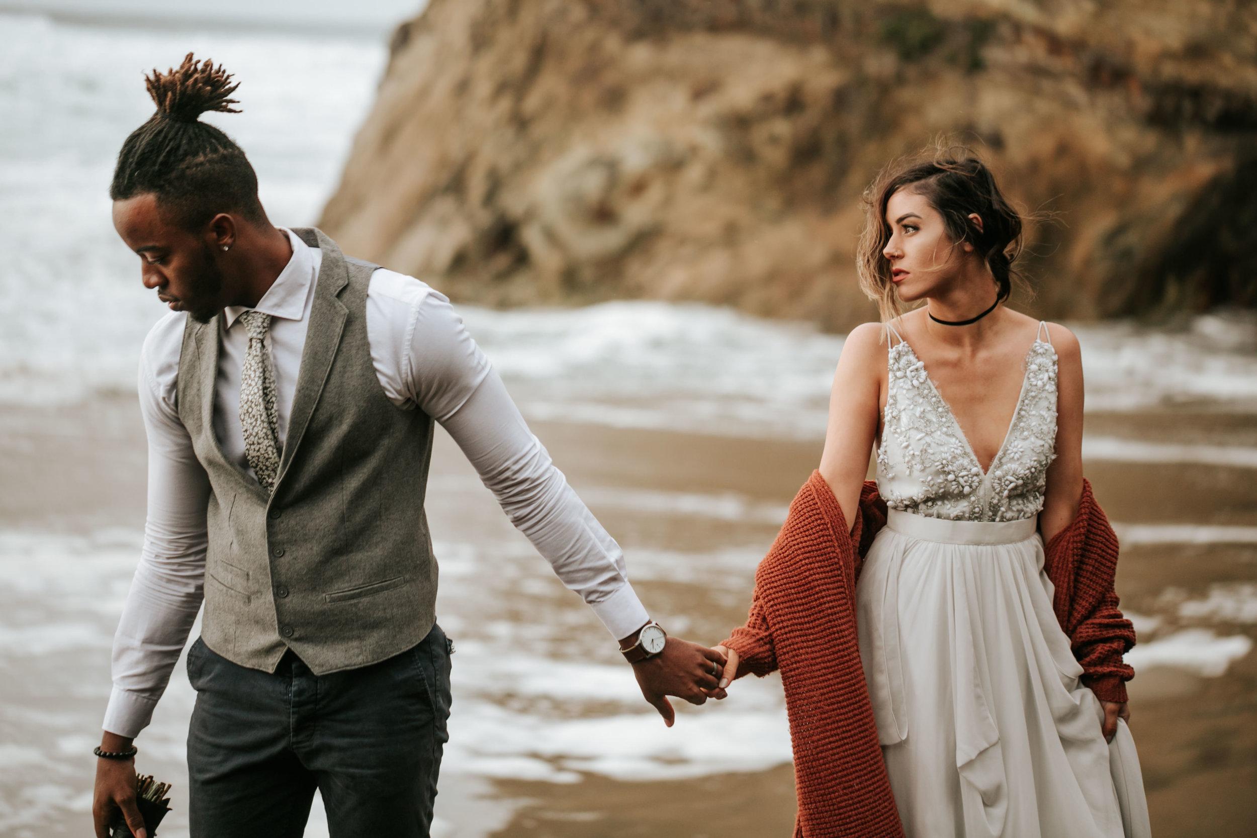 Hug Point Oregon Elopement- Cannon Beach- Grace and Jaden Photography (15).jpg