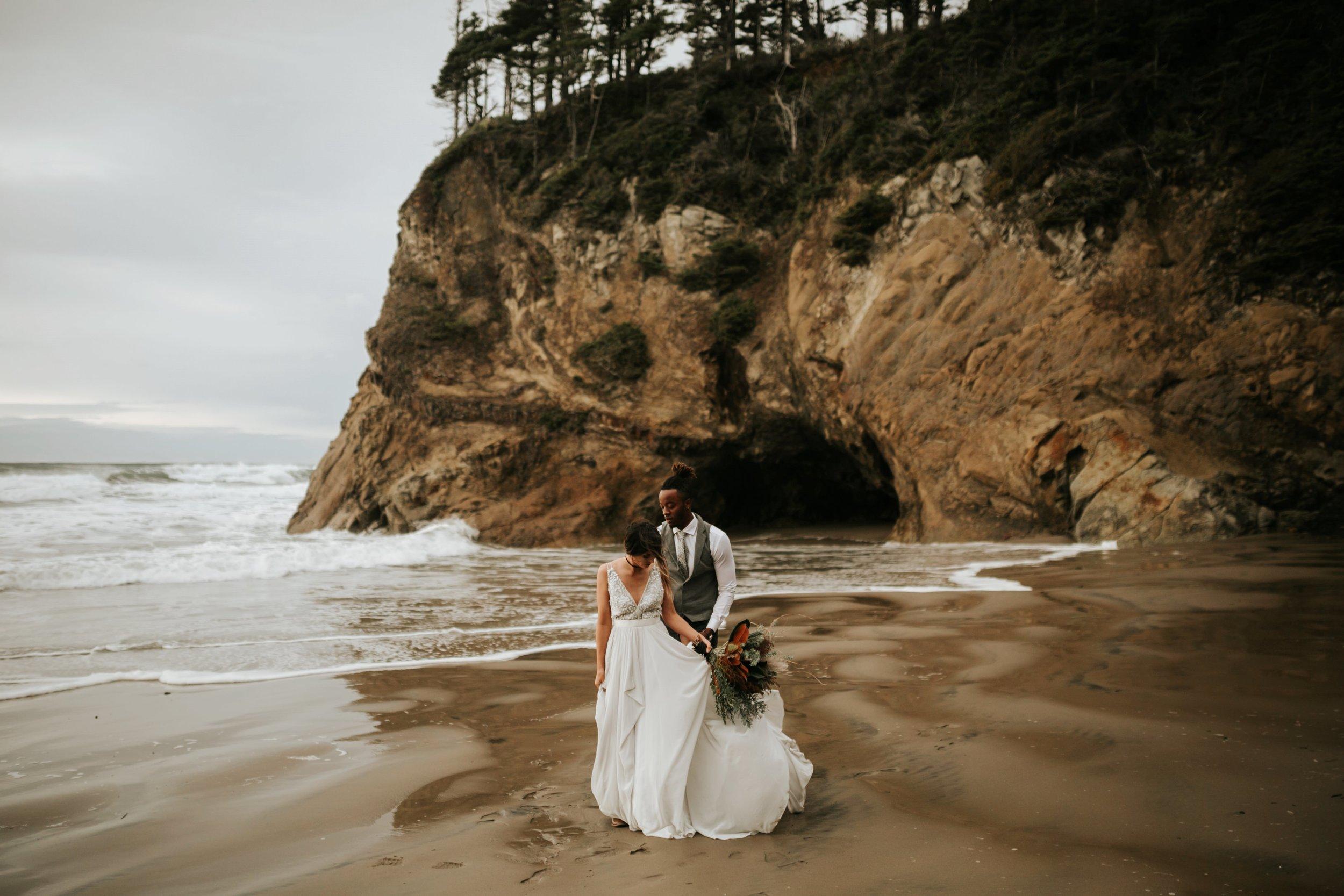 Hug Point Oregon Elopement- Cannon Beach- Grace and Jaden Photography (21).jpg