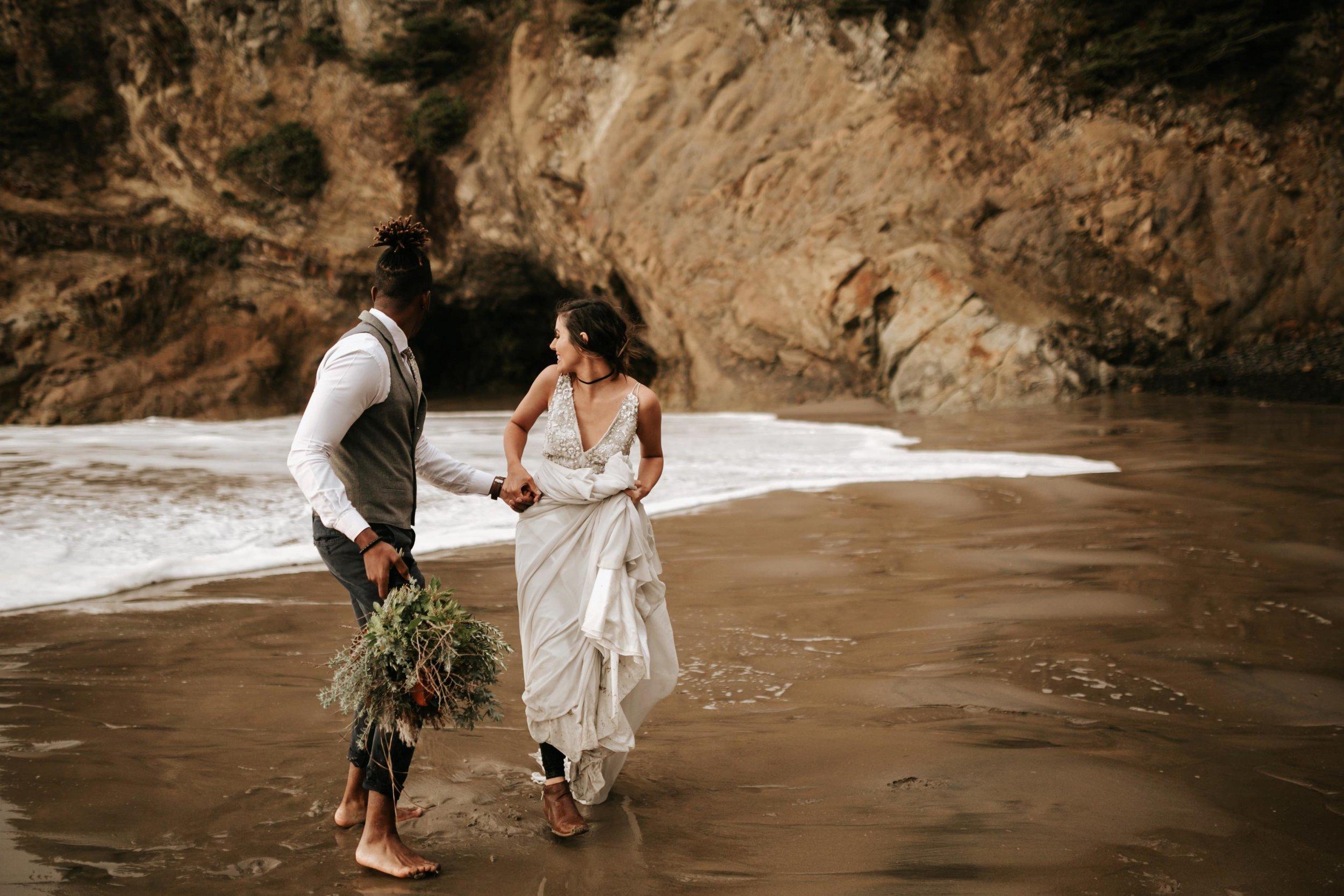 Hug Point Oregon Elopement- Cannon Beach- Grace and Jaden Photography (28).jpg