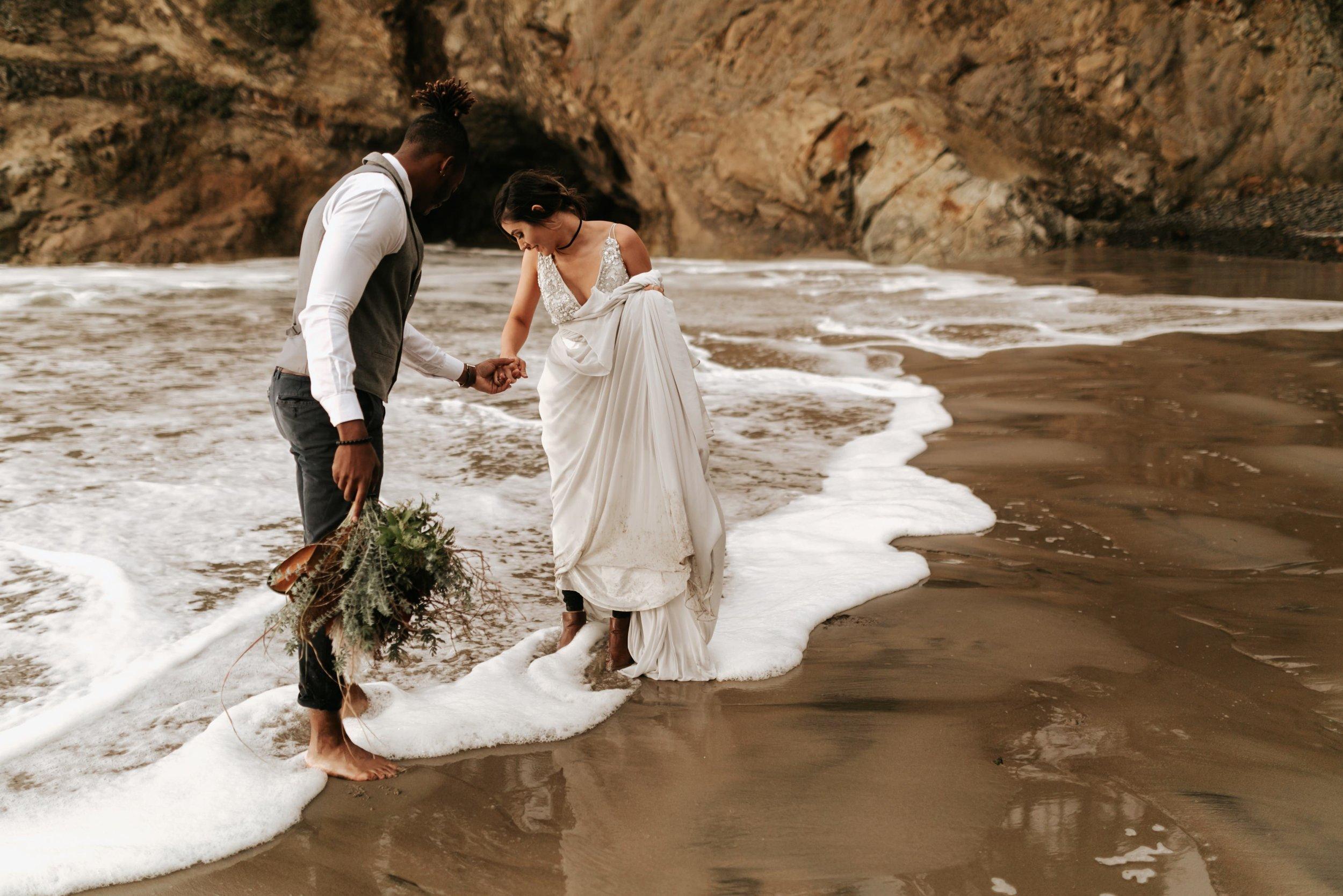 Hug Point Oregon Elopement- Cannon Beach- Grace and Jaden Photography (29).jpg