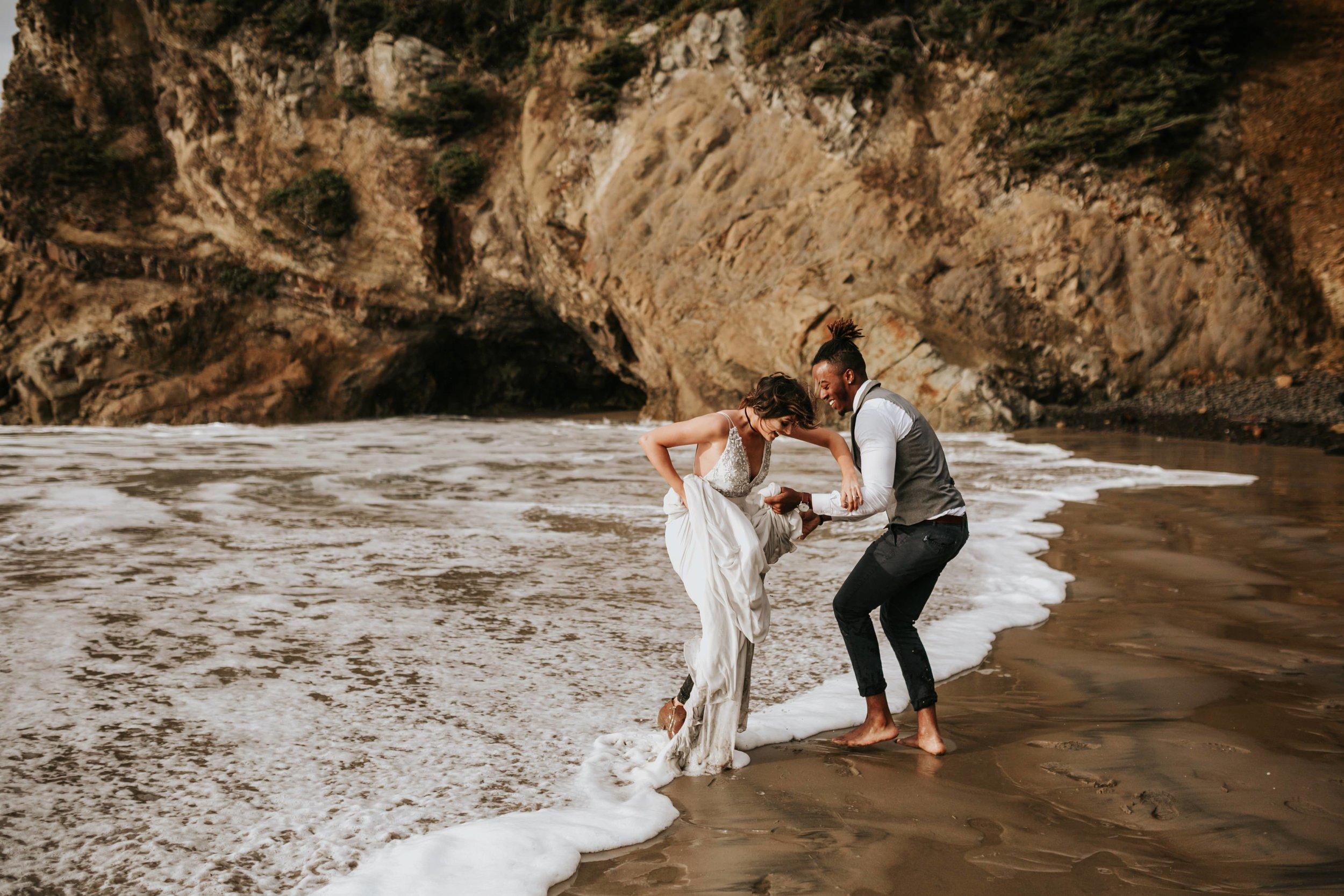 Hug Point Oregon Elopement- Cannon Beach- Grace and Jaden Photography (32).jpg