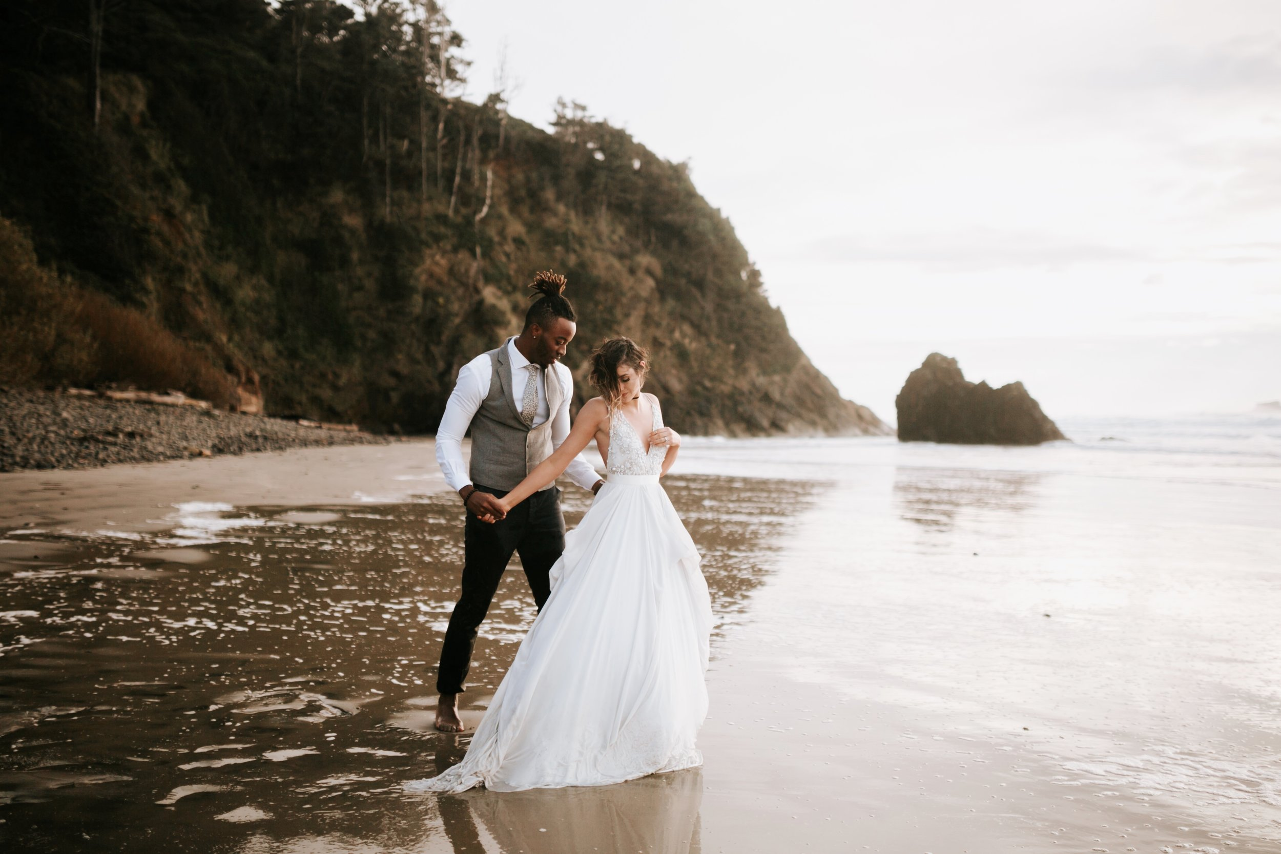 Hug Point Oregon Elopement- Cannon Beach- Grace and Jaden Photography (39).jpg