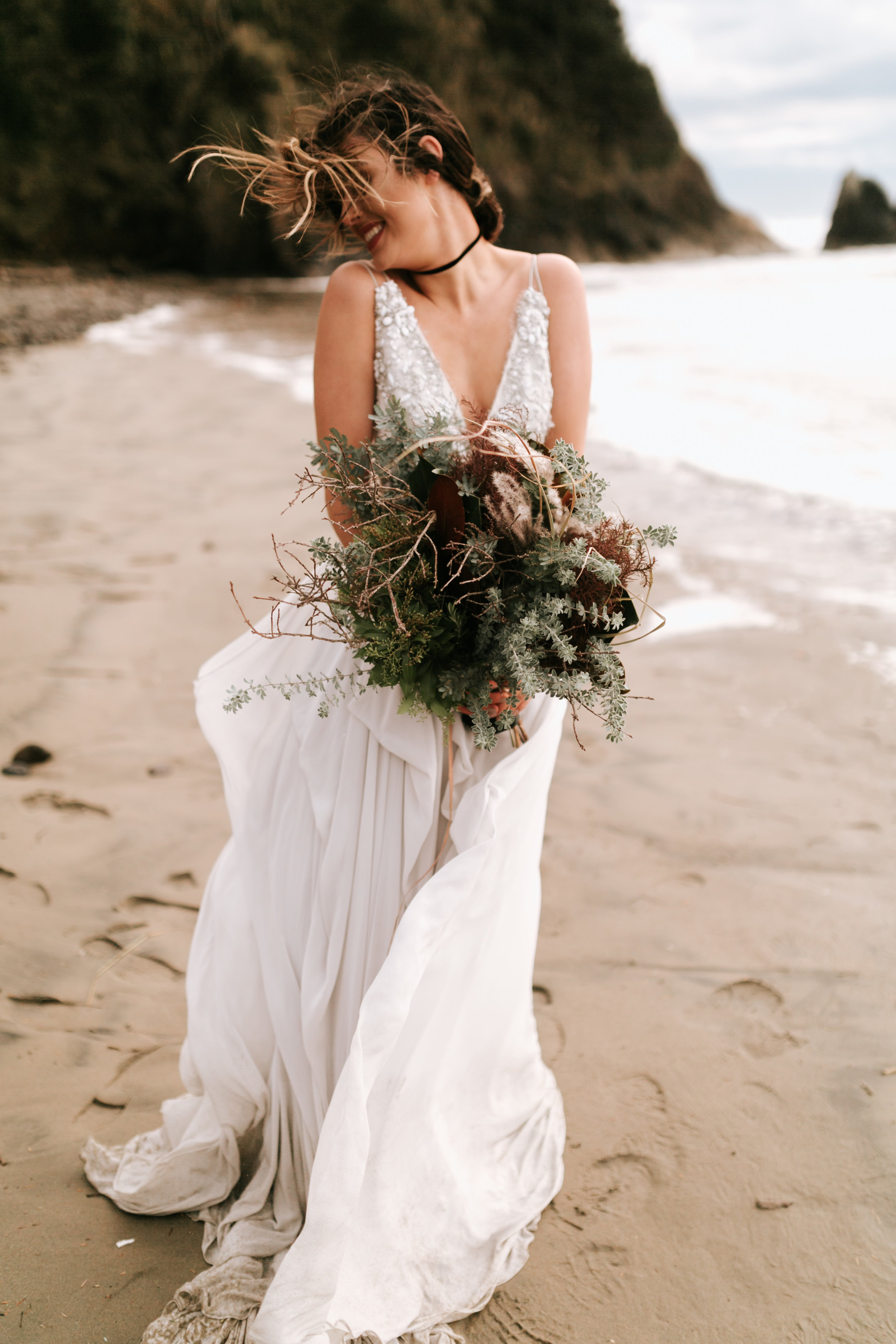 Hug Point Oregon Elopement- Cannon Beach- Grace and Jaden Photography (49).jpg
