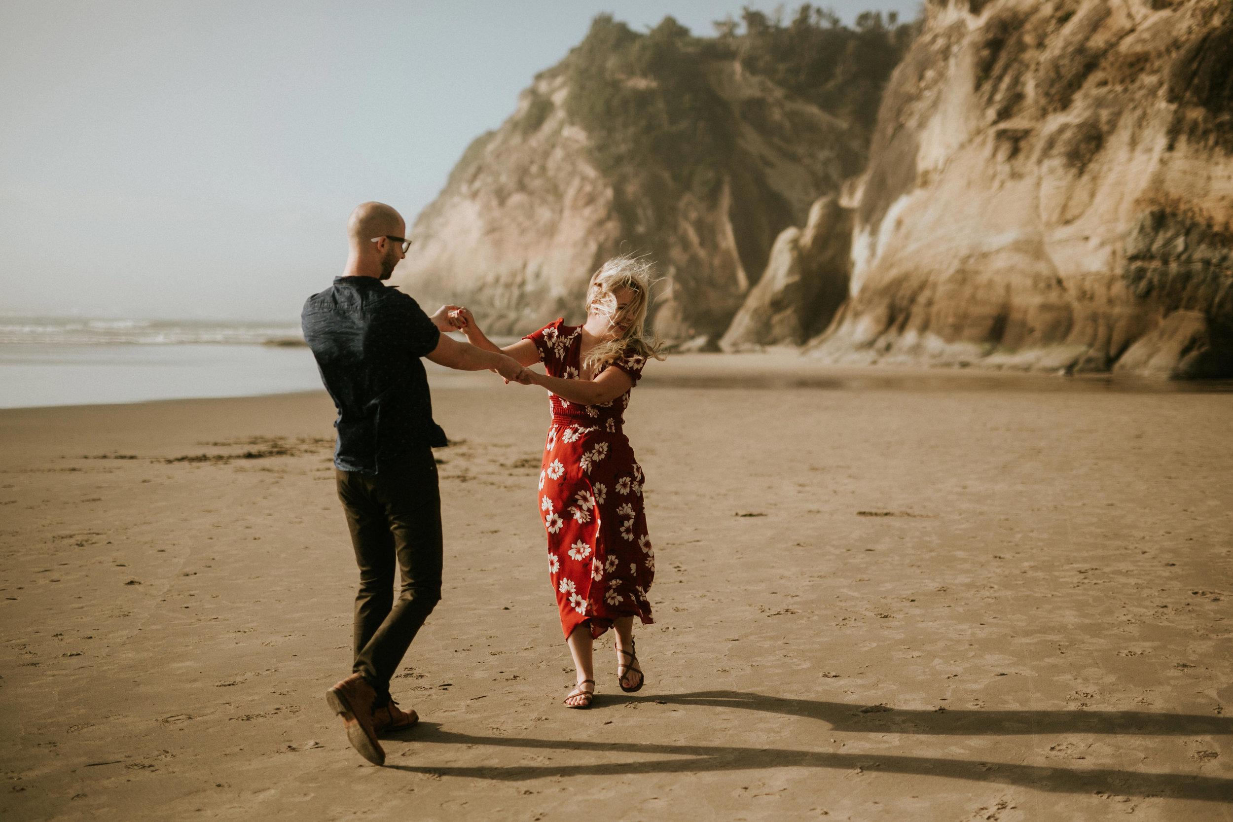 Hug Point, Oregon Anniversary Photography- The Soft Season