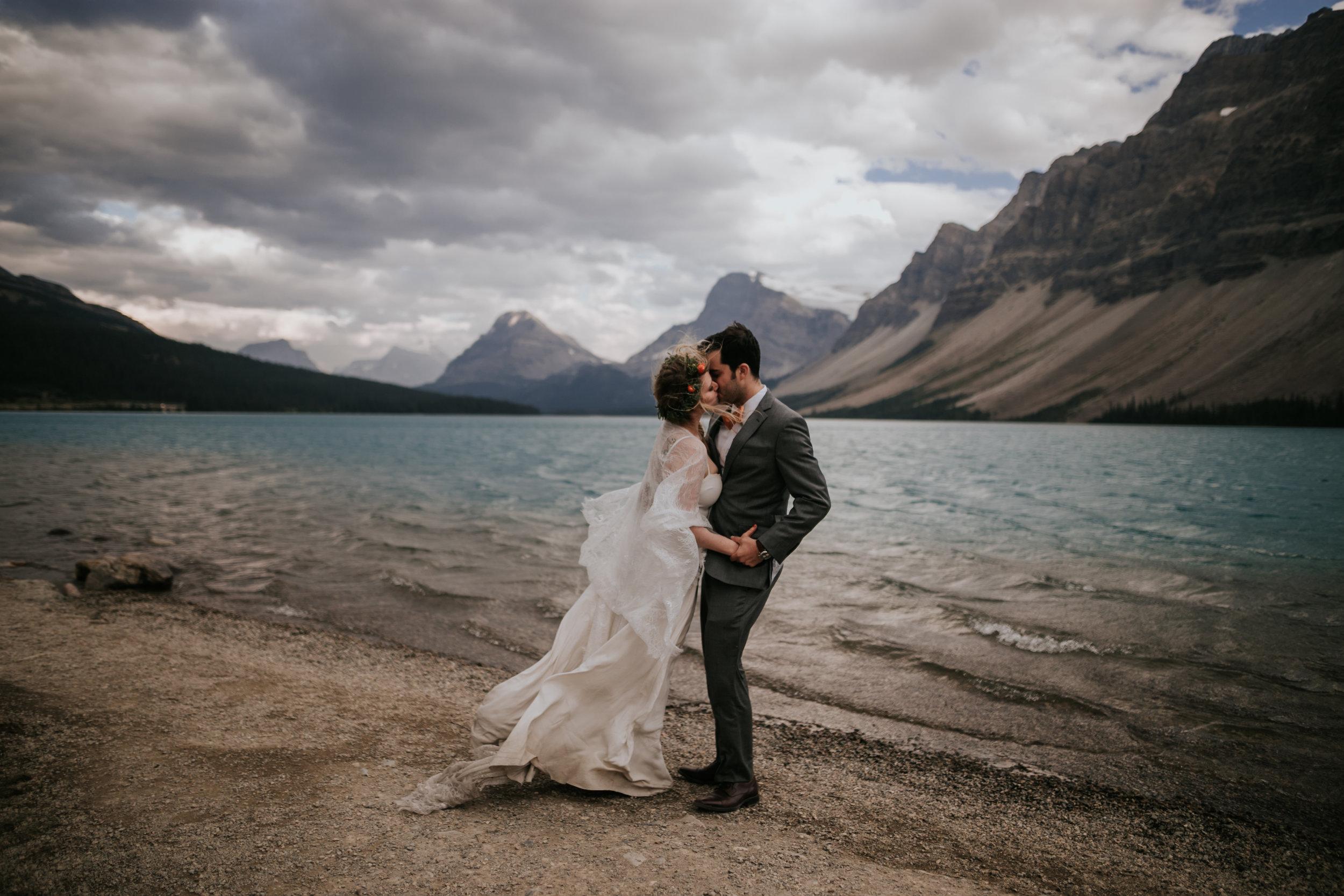Raphaela and Demming- Banff Elopement  - The Soft Season