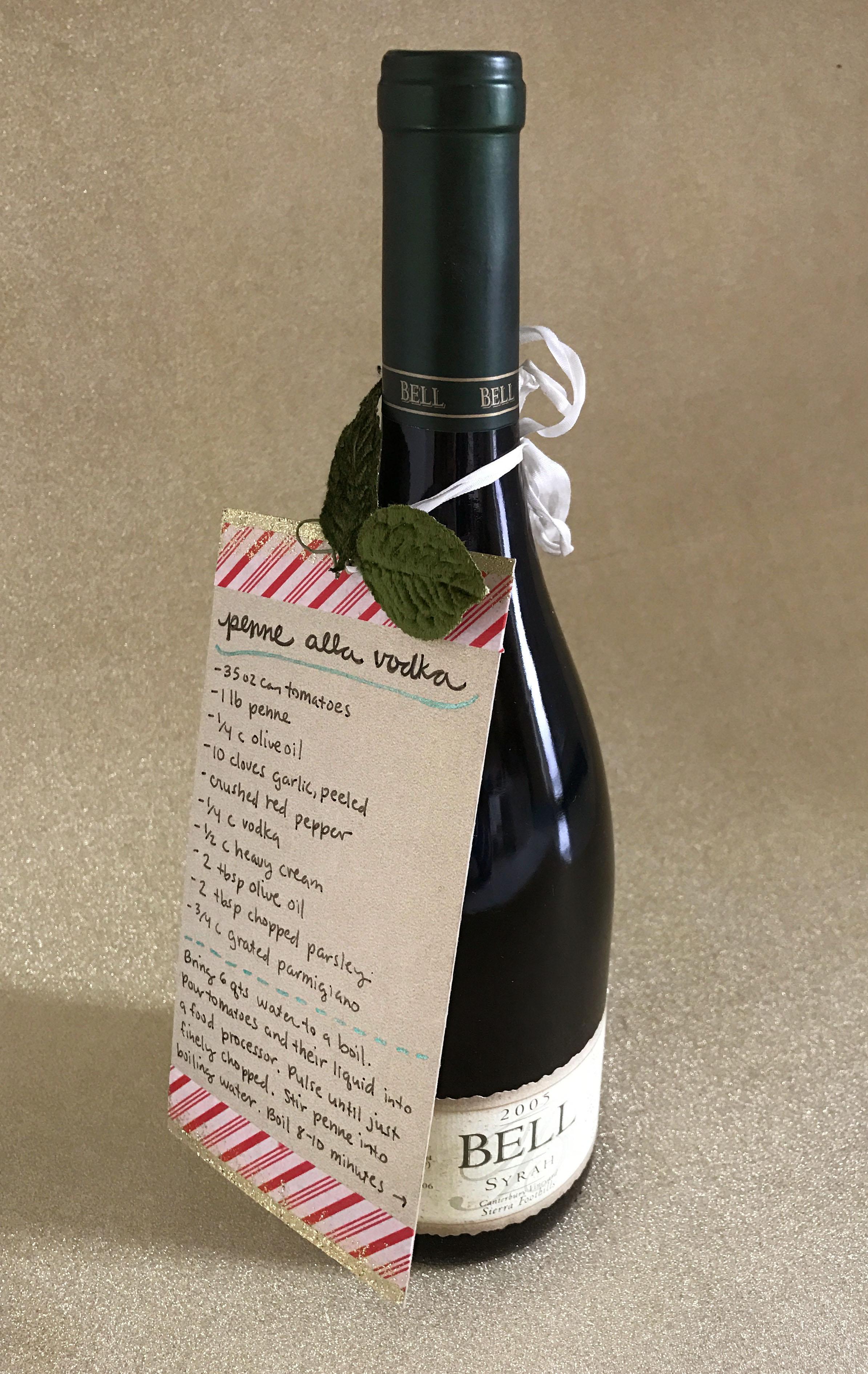 Wine Bottle Recipe Pairing