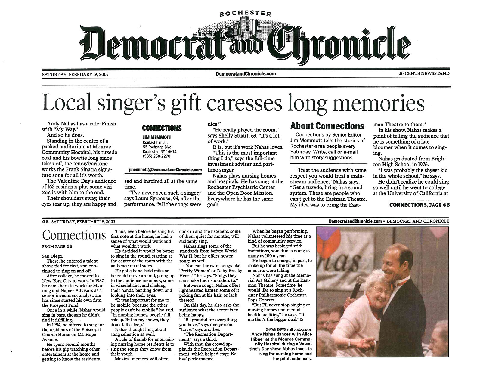 Democrat & Chronicle 2-2005.jpg