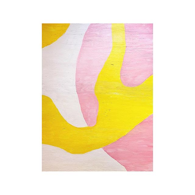spring fresh ⚪️⚪️ #fresh #oil #painting #detail #art #shapes #light #softcolors #texture #newproject #emmeliefranzendesign