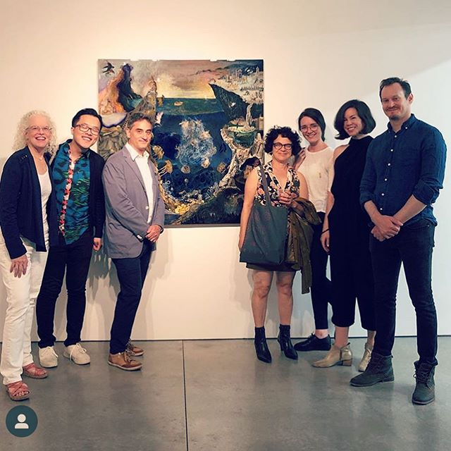 @macdowellcolony reunion @ryanleegallery for @joshdormanart show 🥳 #chelseaopenings #backtoschool #artnight