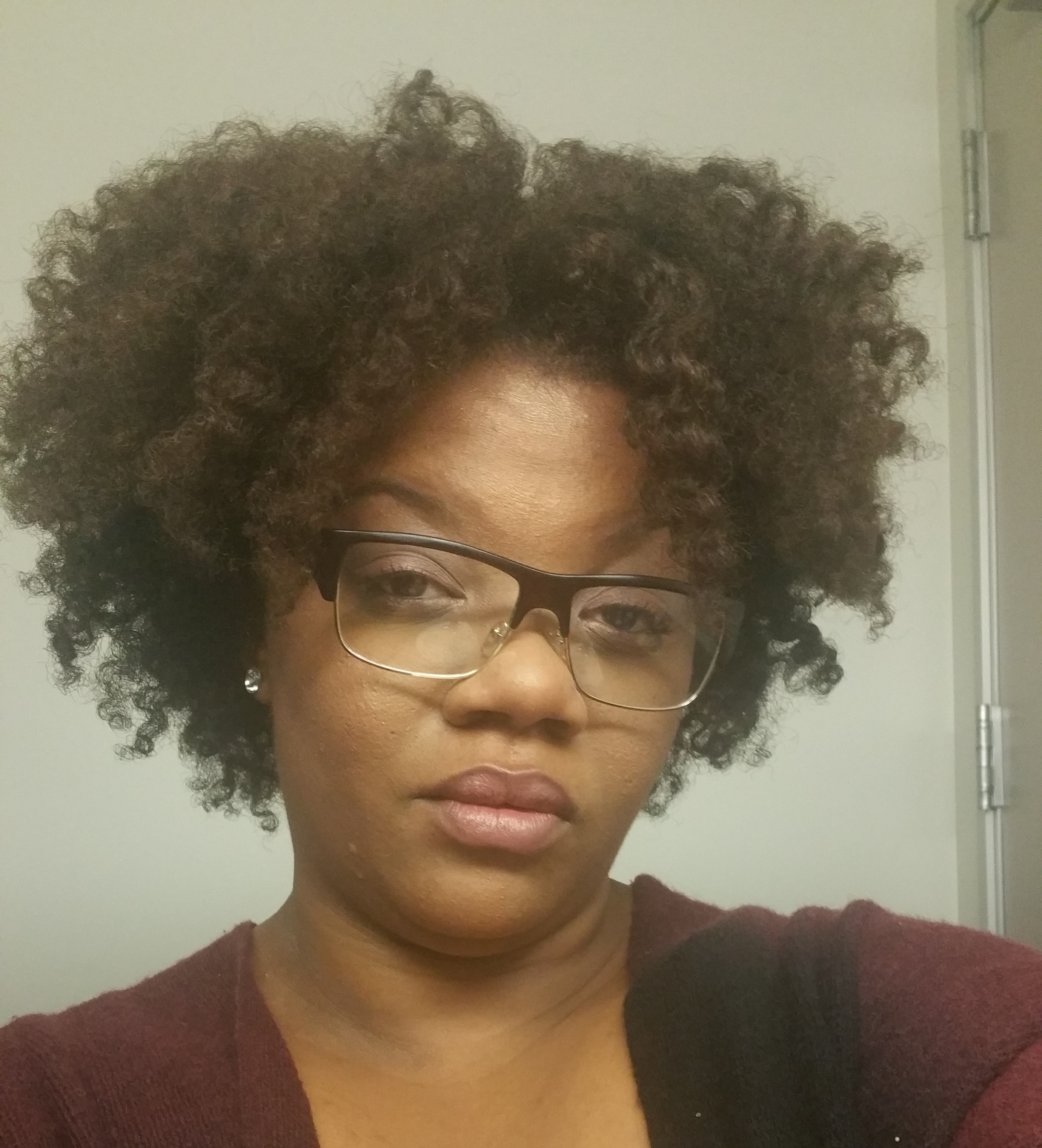 Second day hair that I literally slept on the night before