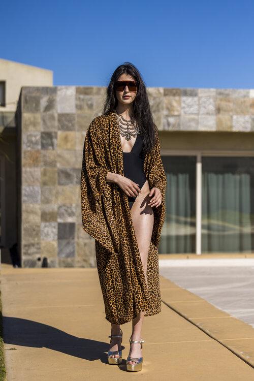 Lena Leopard Kimono