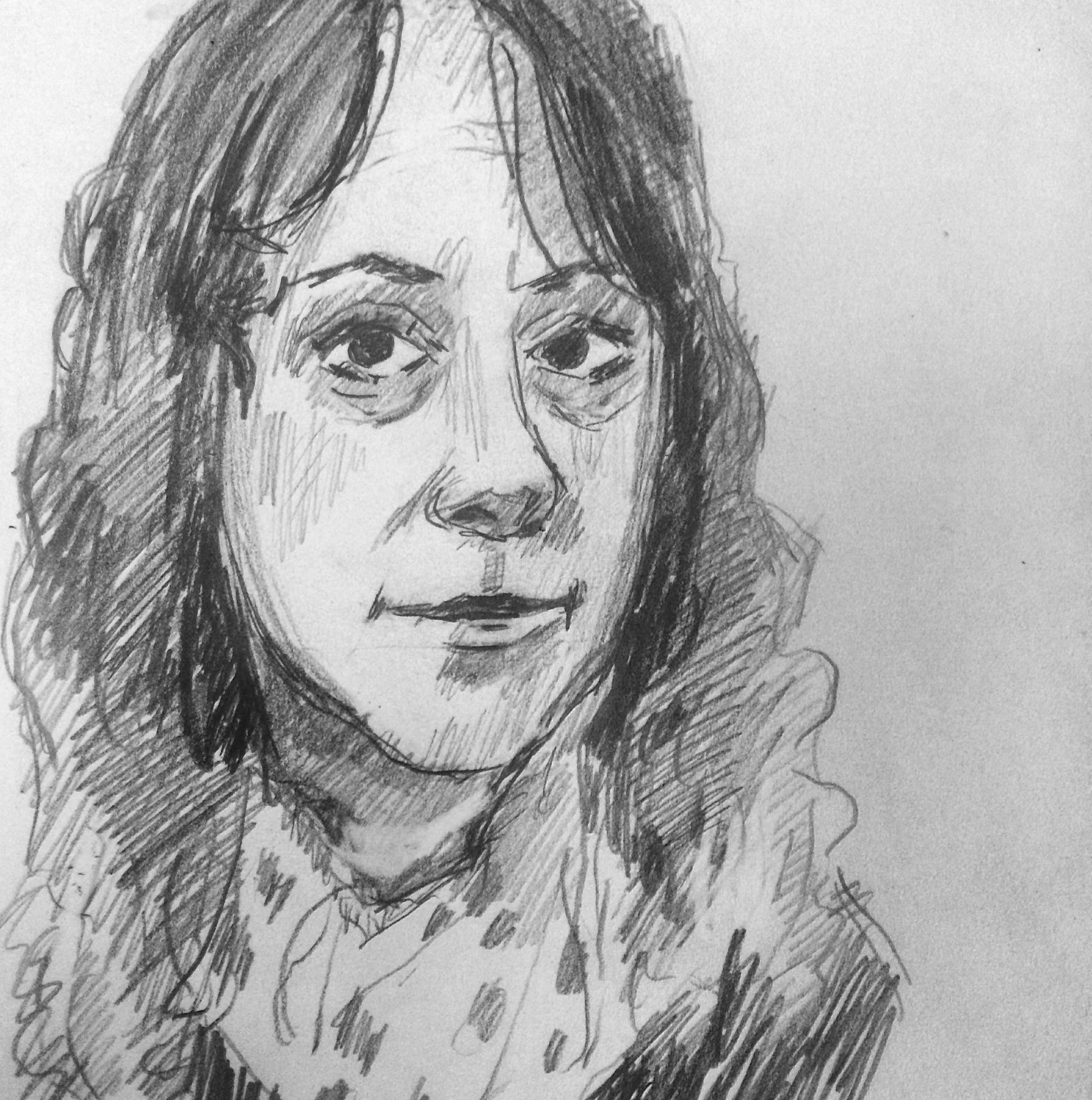 Rachel  2015, pencil on paper, 5 x 7 in