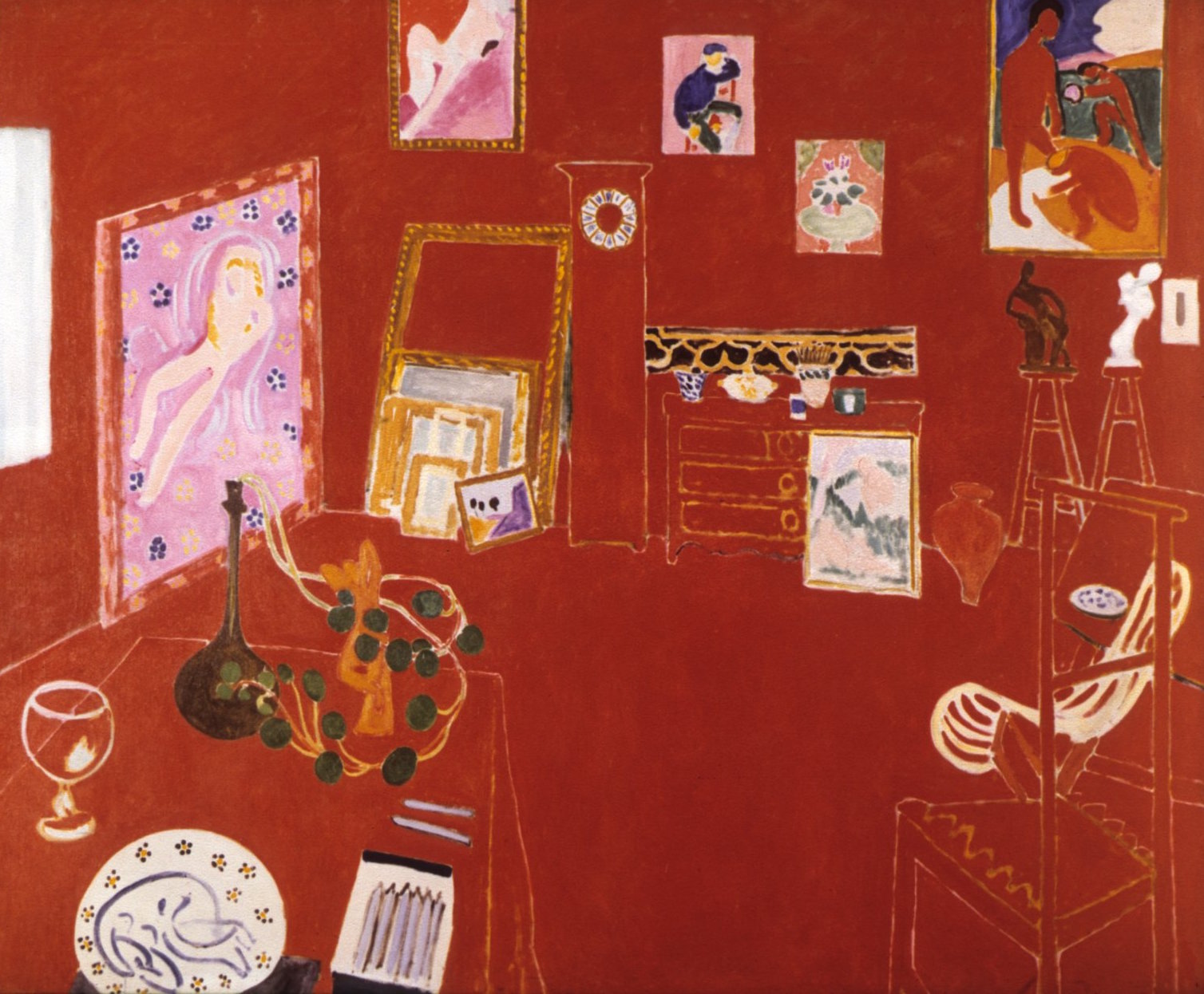 Henri Matisse, The Red Studio, 1911, 71 x 86 inches