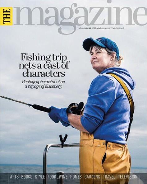 Front Cover of the Yorkshire Post and Three page feature on North Sea Swells