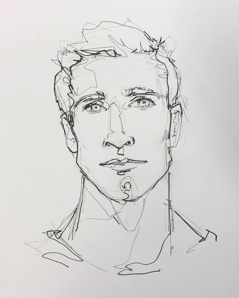 Billy's sketch of his best friend Kyle. My favorite illustration that Jackie created for us.
