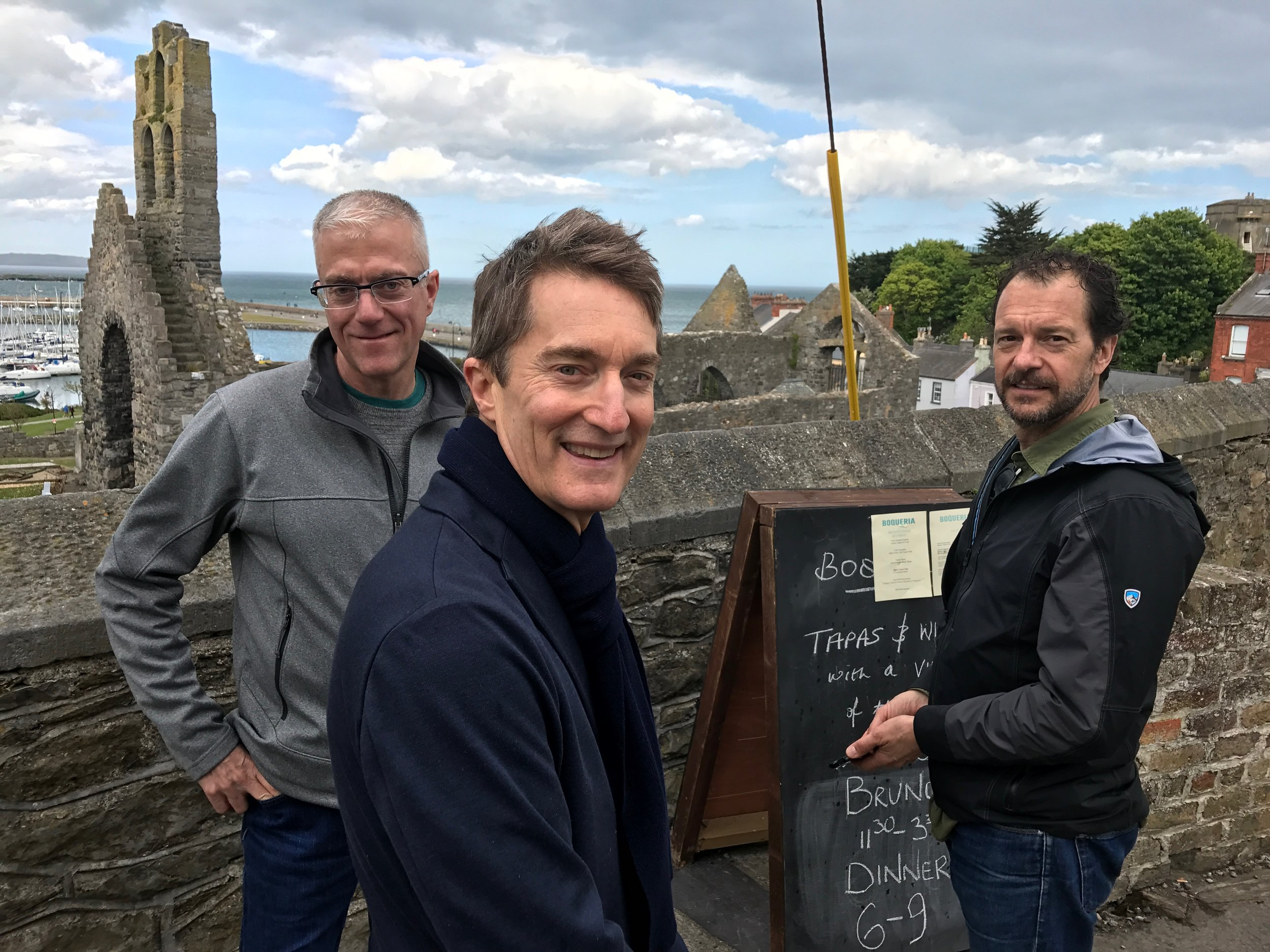 Rob, Carl and Tony in Howth