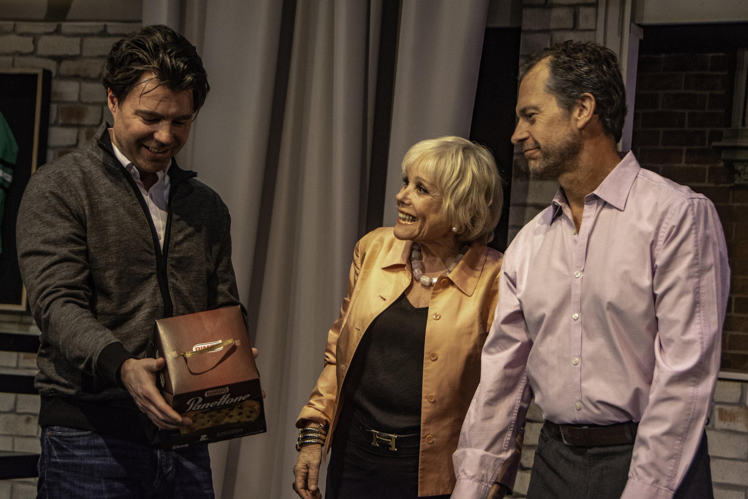 Beau Jackett as Greg, Lynda Sturner as Maxie and Tony Travostino as Peter. Photo by Alan Trugman.