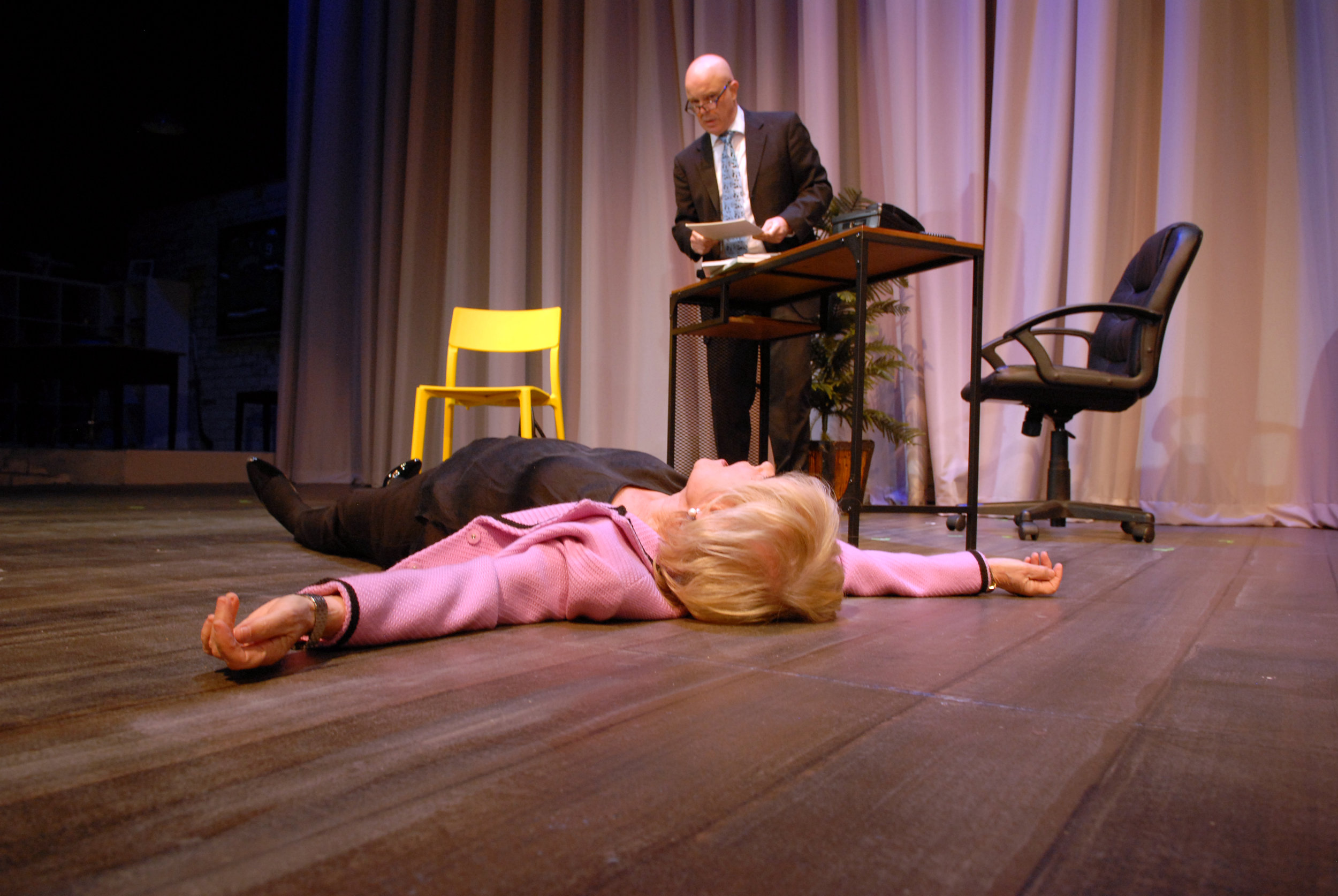 Lynda Sturner as Maxie and Ian Ryan as Christopher. Photo by Jim Dalglish.