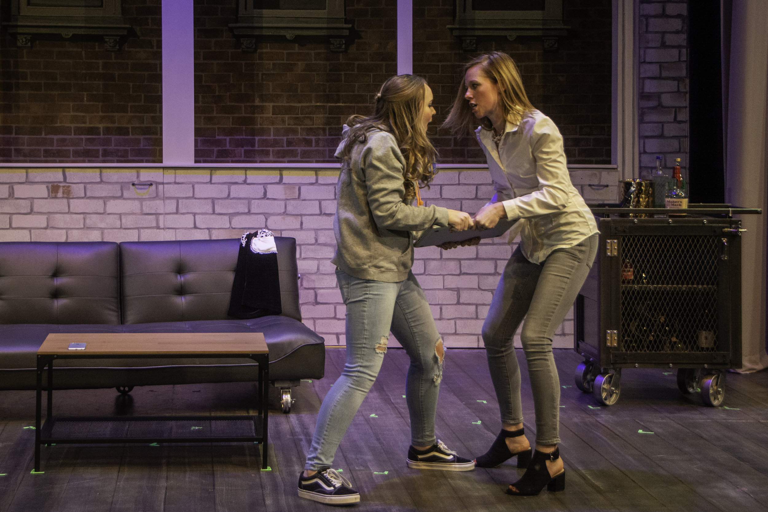 Orla Delaney as Harmony and Anna Botsford as Victoria. Photo by Alan Trugman.