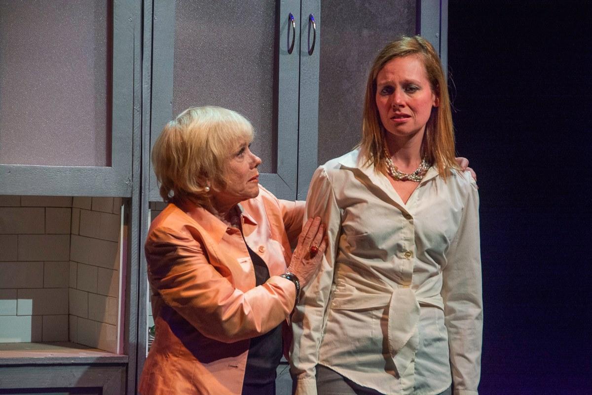 """Lynda Sturner as """"Maxie"""" and Anna Botsford as """"Victoria."""""""