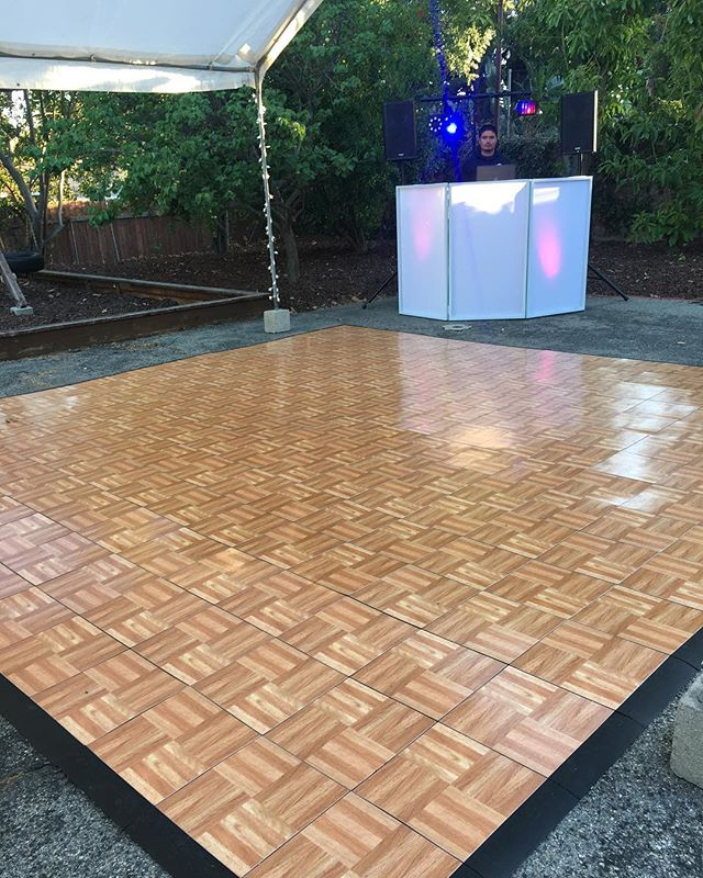 Check out our new dance floor from last night's event.  Contact us for availability.