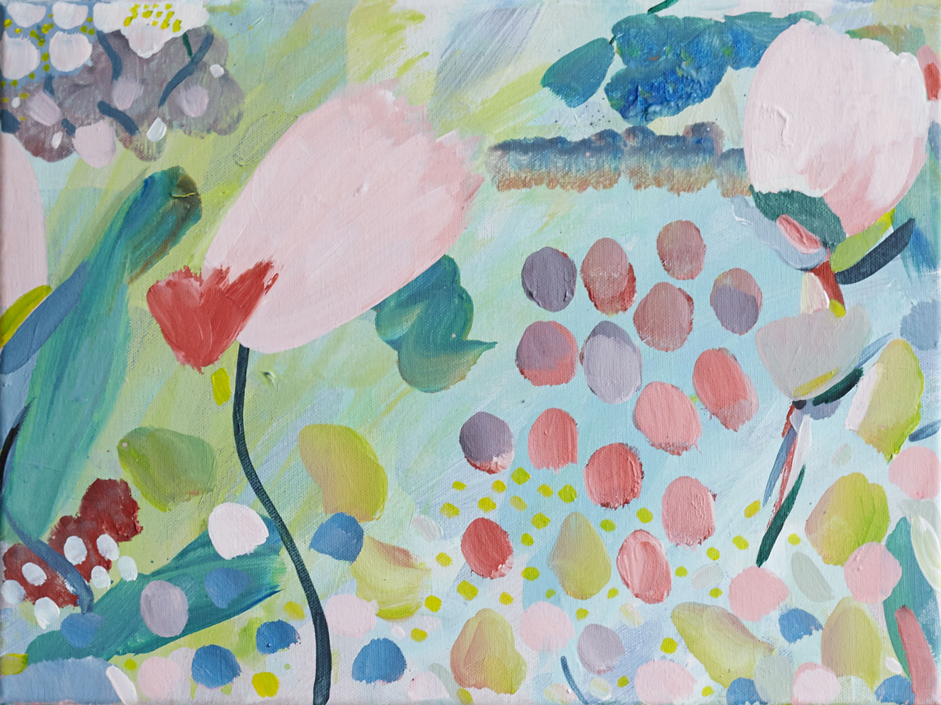 'Joy is Here'  30x40cm acrylic on canvas (sold)