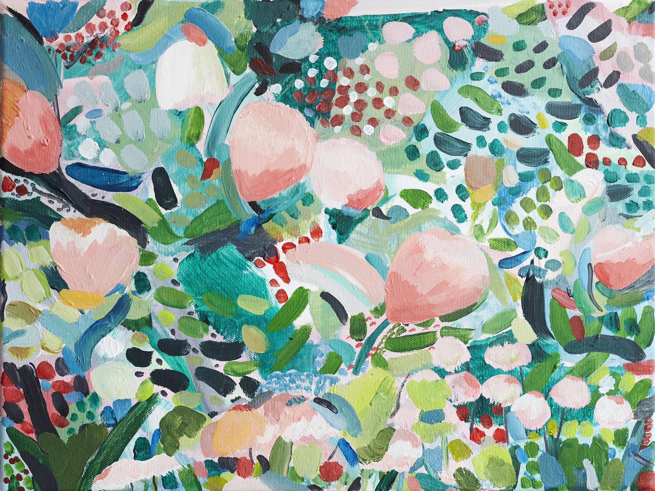 'Come Into The Garden'  40cmx30cm Acrylic on canvas (sold)