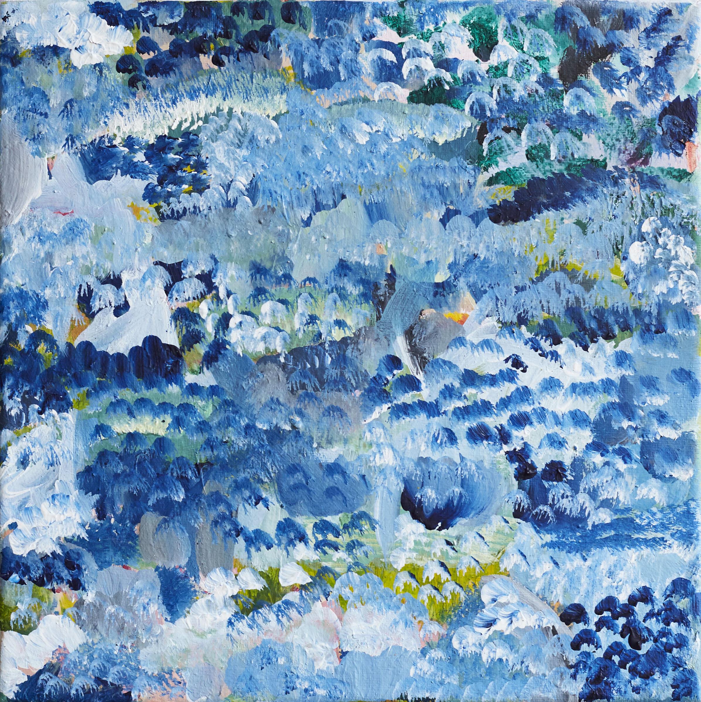 'Claude's Garden'  26cmx26cm acrylic on canvas (sold)