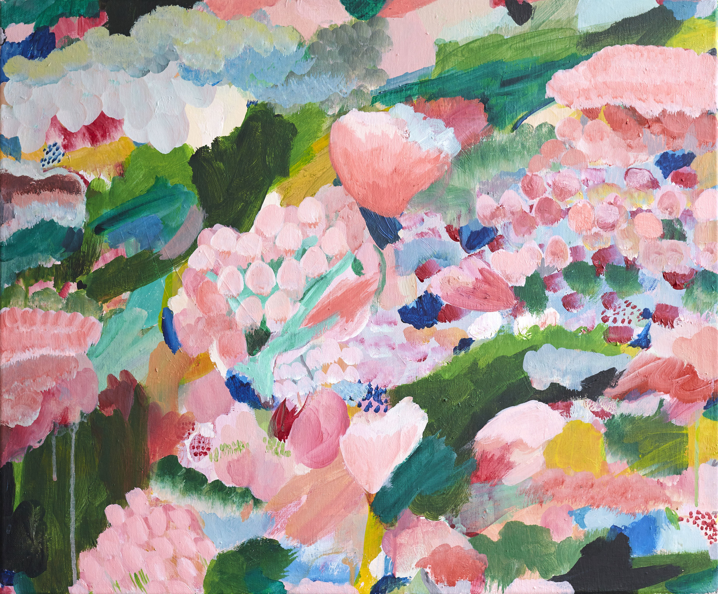 'Summer Blooms'  Acrylic on canvas 60cmx50cm (sold)