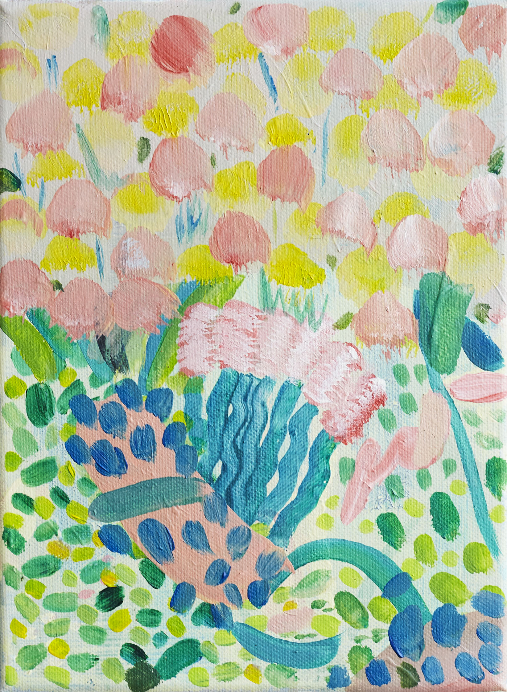'Love Grows'  13cm x18cm acrylic on canvas (sold)