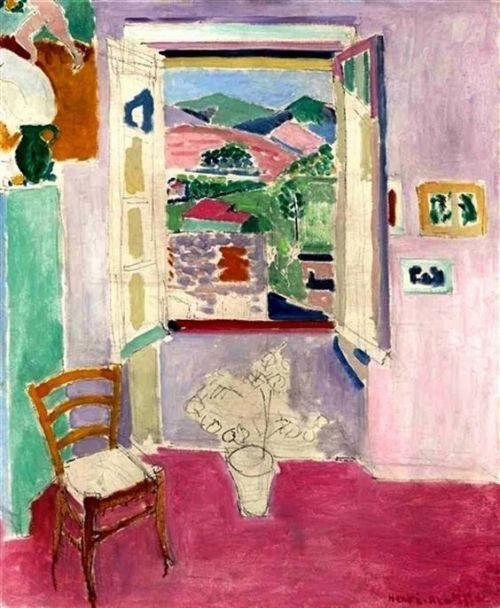 Henri Matisse (1869-1954) La fenêtre ouverte (1911) oil over pencil on canvas 72.7 x 60.3 cm