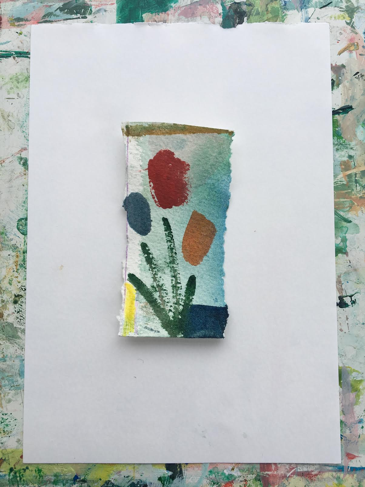 Mini Bouquet colour study on paper